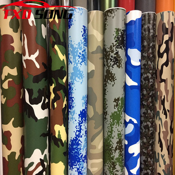 10 Kinds Premium Camo Vinyl Car Wrap Black White Blue Red Green Camouflage Film Sticker For Car Scooter Motorcycle Decoration image