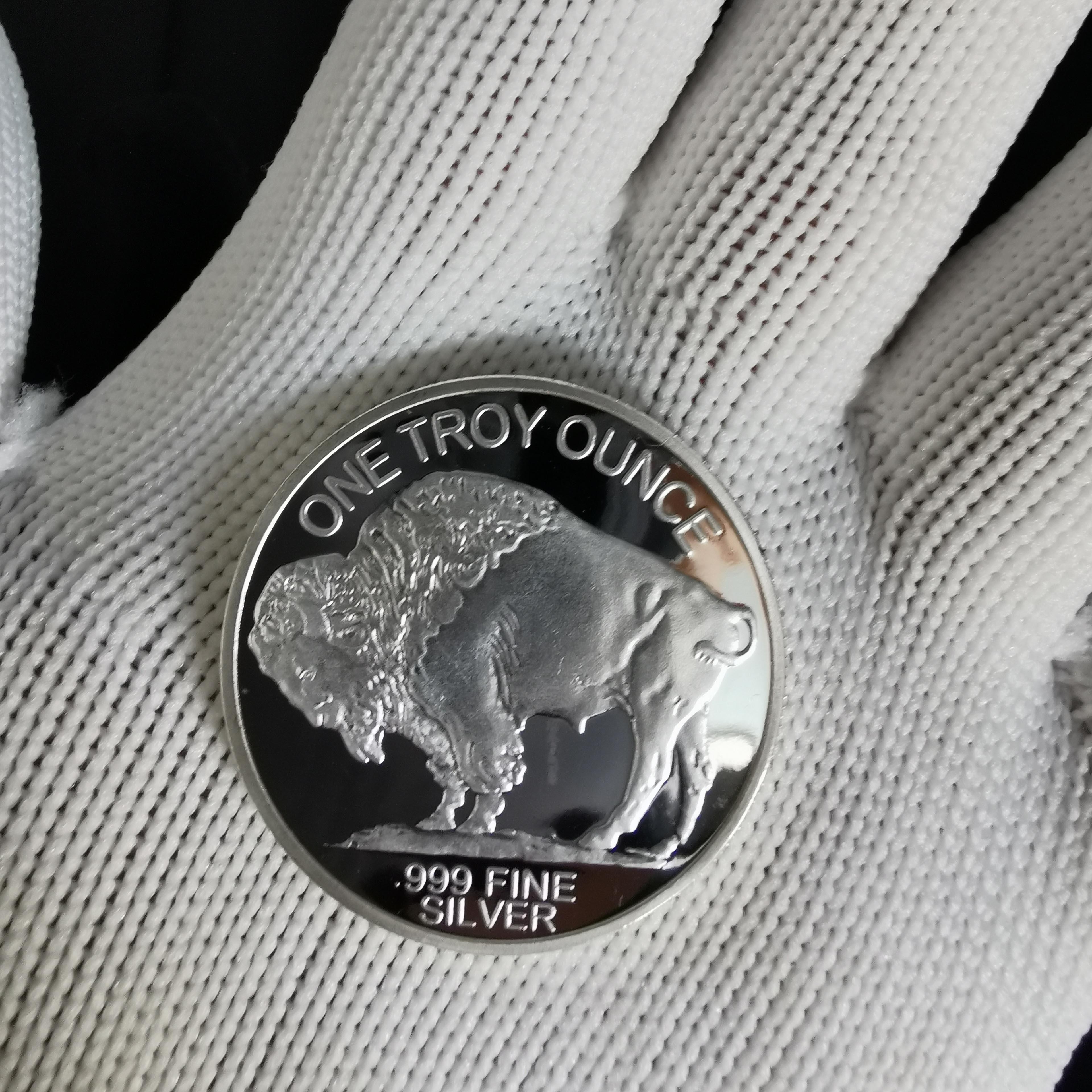 Немагнитные Юбилейные Монеты США, 1 унция, серебро 999 пробы, 2015, свобода, индийский/буйвол, вызов, коллекционные сувенирные подарки