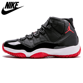 цена на Nike Air Jordan XI Bred AJ 11,Men's Laceup Comfortble Lifestyle Men's Sneakers Basketball Shoes