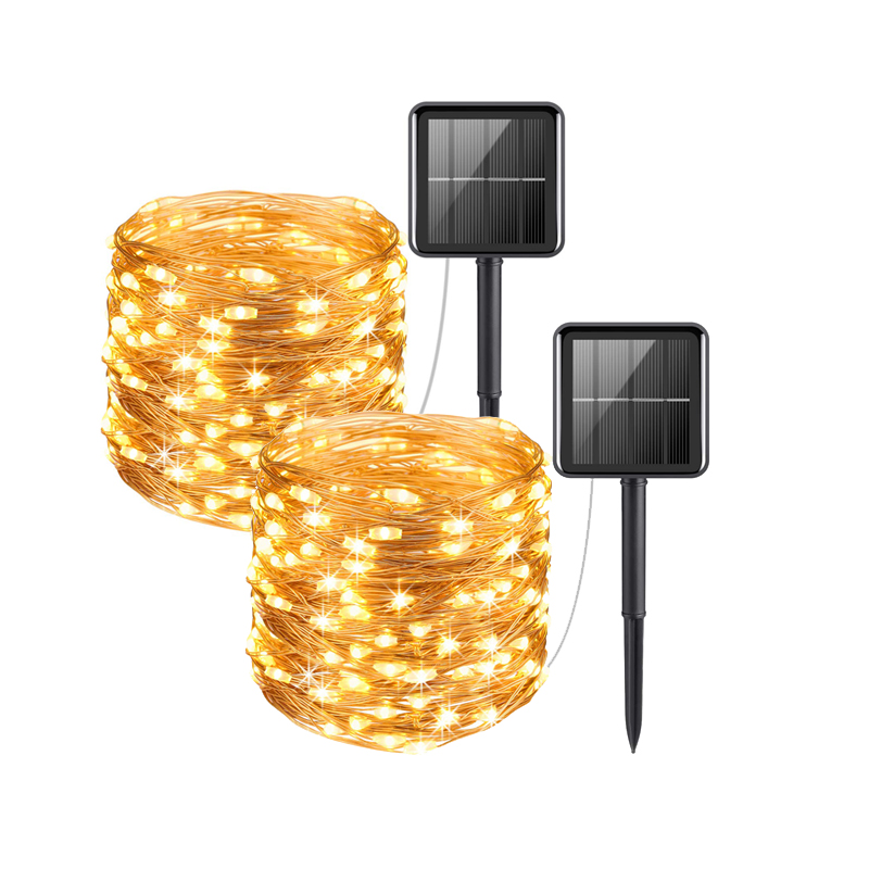 Solar Powered String Lights 20-100LEDs USB Copper Wire Light Fairy Lights Indoor Outdoor Waterproof Decoration Lights For Garden