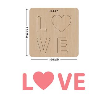 SMVAUON notatnik Die Cut DIY handmade nowe matryce do 2020 drewniany szablon do wycinania formy do wykrawania drewna tanie i dobre opinie Serce Leather Tools