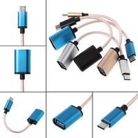 cable samsung USB 3.1 Type C Male to USB 2.0 Female OTG Data Cable For Samsung S9 S8 Pixel 2 (3)