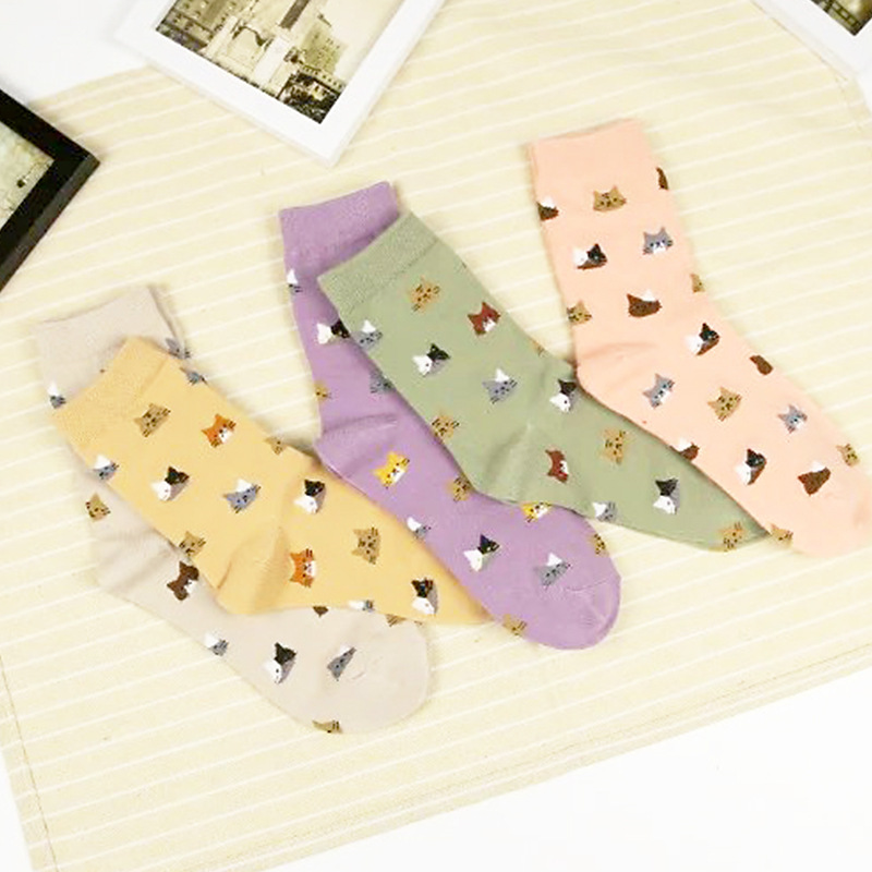 Ani-11    Women Cute Lovely Animal  Women Girls Lady  Cotton Short Socks