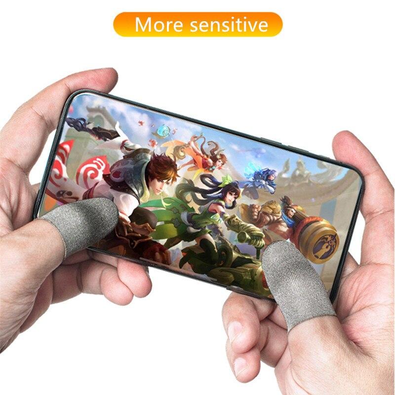 Обновленная версия сенсорного экрана рукав для Fortnite Gatillos Para Celular Pubg Sweatproof дышащий контроллер для мобильных игр