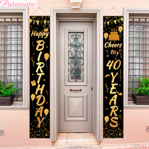 PATIMATE 40 Birthday Door Curtain 40th Birthday Party Decorations Adult 40 Years Birthday Balloon 40 Anniversary Party Supplies