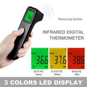 Image 5 - Digital LCD Non contact IR Infrared Thermometer Surface Temperature Measurement Data Hold Function 3 colors