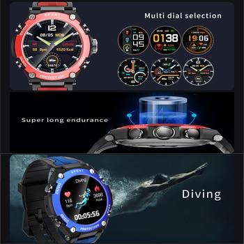 New Smart watch Men Music Play IP68 Waterproof 1.3 inch Sport Digital Men Watch,Compass & weather Smartwatch For ios Android 6