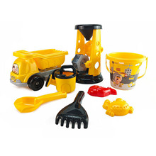 Kids Beach Sand Toys Set Sand Truck Bucket Shovels Rakes Tool Kit Watering Can Toys For Toddlers Kids