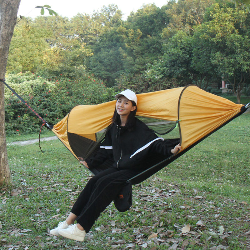 More Function Hammock Sunshade Defense Mosquito Parachute Cloth Swing Quick Opening Suspended Tent