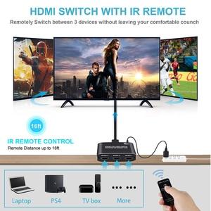 Image 5 - Navceker 4K 60Hz Mini 3 Port HDMI التبديل 2.0 4K الجلاد مقسم الوصلات البينية متعددة الوسائط وعالية الوضوح (HDMI) 1080P HDR 3 في 1 خارج ميناء المحور ل DVD HDTV Xbox PS3 PS4