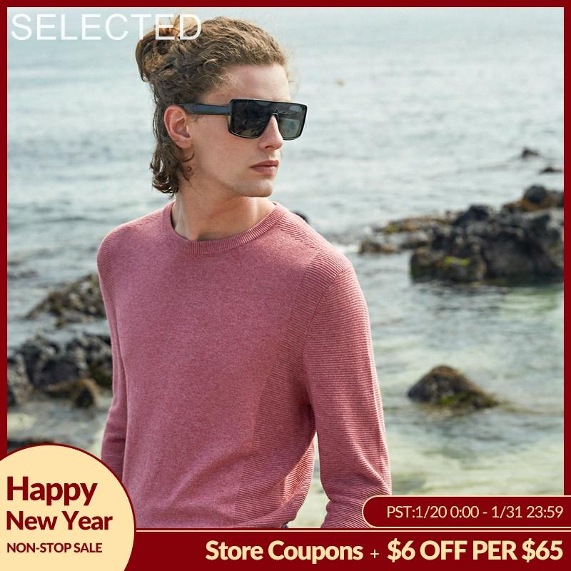 SELECTED New Cotton Blend Long-sleeved Knitted Clothes Men's Winter Pullovers O-Neck Sweater S | 419324519