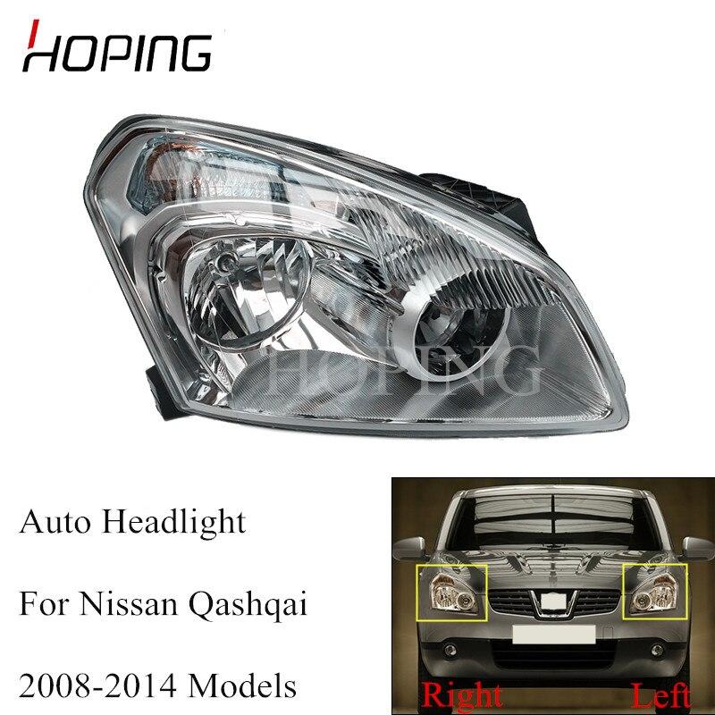 Надеясь левый и правый бампер передний головной светильник для Nissan Qashqai 2008 2009 2010 2011 2012 2013 2014 головной светильник