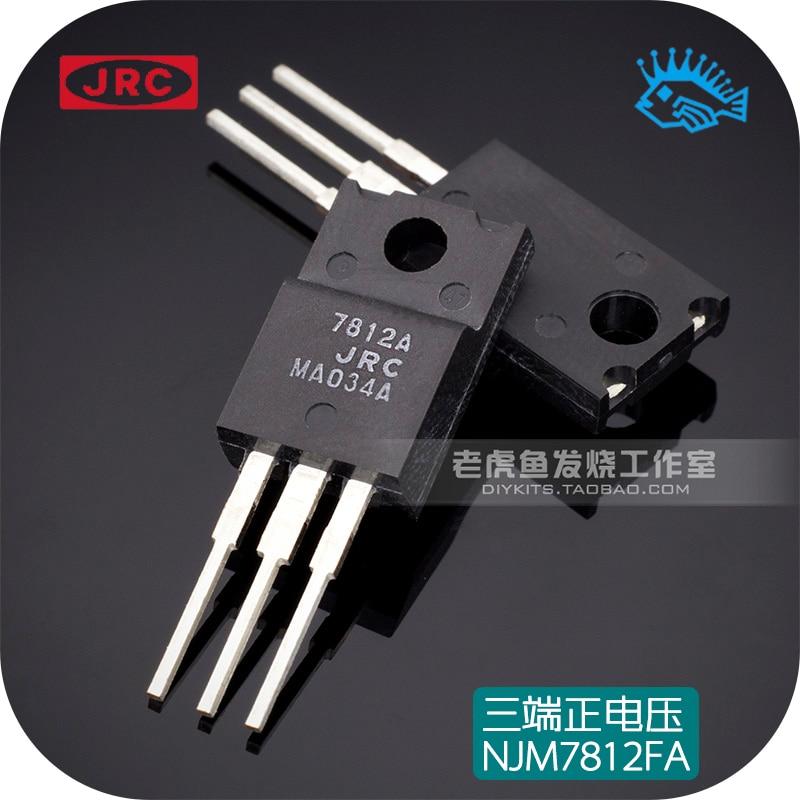 5pcs/50pcs Japan JRC NJM7812FA LM7812 Three-terminal Regulator Integrated Chip Positive Voltage Regulator TO-220F
