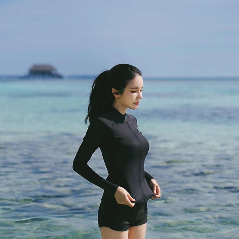 Beberapa Ruam Penjaga Wanita Baju Renang Selancar Angin Lengan Panjang Surf Kemeja Pakaian Renang untuk Surfing Pecinta Alam Cocok untuk Hewan
