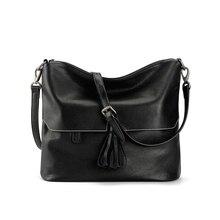 цена на Women Genuine Leather Shoulder Messenger Bag Tassel Luxury Handbags Ladies Bags Designer Crossbody Bags For Lady hand bag Sac