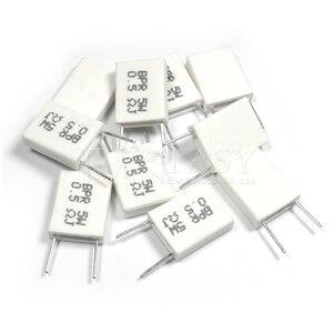 Image 2 - 100 pièces BPR56 5W 0.1 0.15 0.22 0.25 0.33 0.5 ohms Non inductif Céramique Résistance 0.1R 0.15R 0.22R 0.25R 0.33R 0.5R