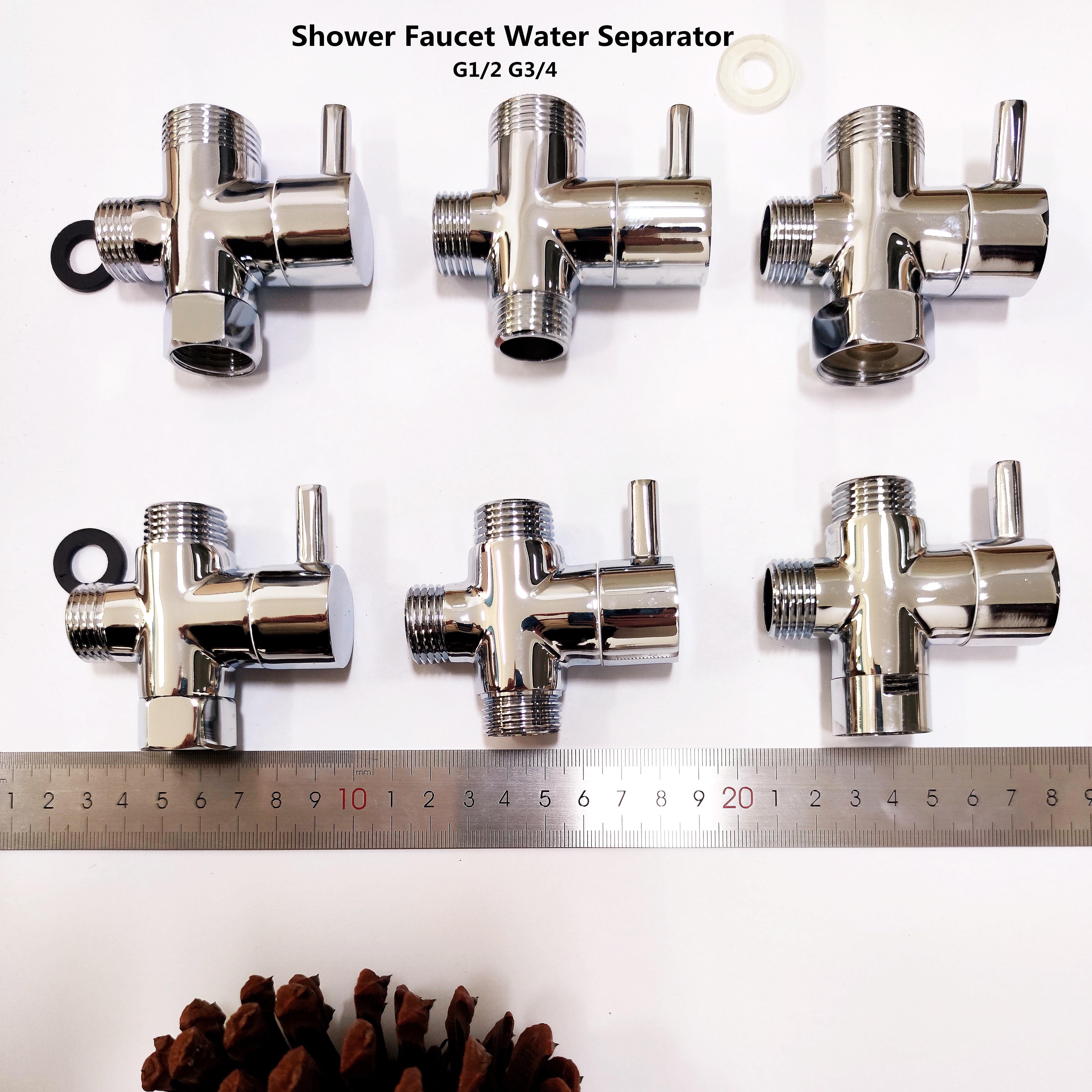 Медный душевой делитель воды, смеситель для душа, трехходовой водяной клапан, водоотделитель, распылитель, переключатель сопла, один два соединения, конвертер|Смесители для душа|   | АлиЭкспресс
