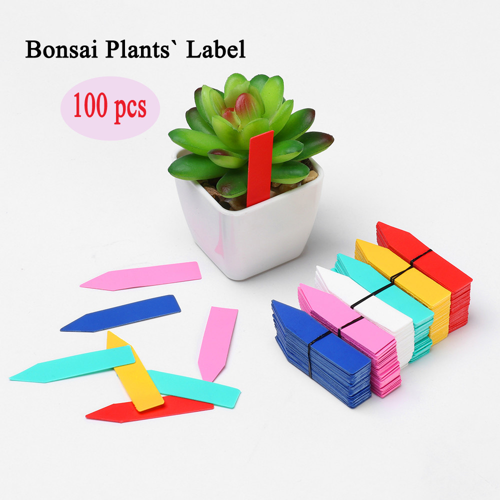 100PCS Greenhouse Waterproof Plants Seedling Label Garden Tools Classification Plastic Tags Marker Nursery Pot For Garden