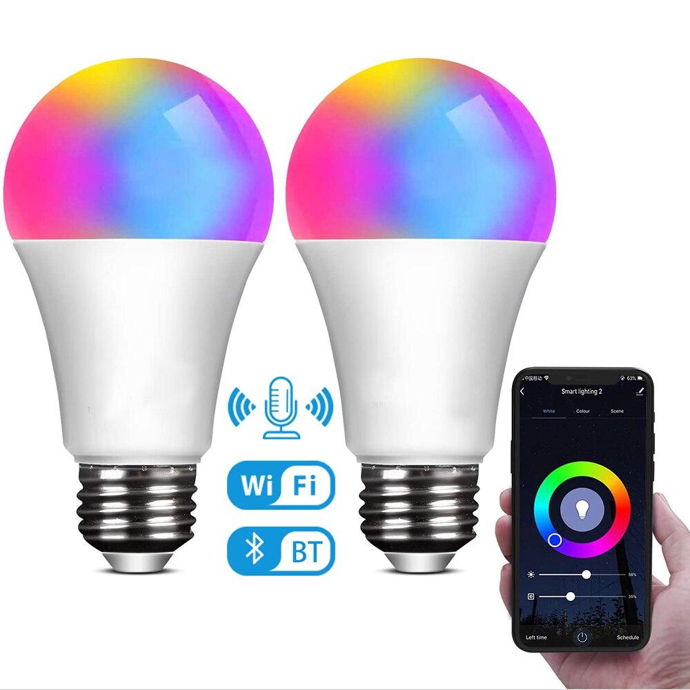5W 20W WiFi Smart Light Bulb RGB Magic Lamp dimmerabile E27 B22 WiFi lampadine a LED compatibili con Amazon Alexa Google Home Smart Thing