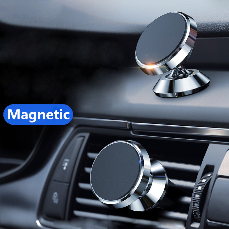 Magnetic Car Phone Stand Dashboard Phone New Luxury Stand Holder For IPhone For Huawei Lite Magnet Air Hole Handle Installation