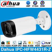 Dahua IPC-HFW4431R-Z sans Logo 4MP POE caméra IP 80m MAX IR nuit 2.7 ~ 12mm Zoom motorisé Auto Focus balle caméra CCTV