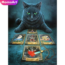 MomoArt DIY Diamond Painting Cat Full Drill Square Embroidery Animal Cross Stitch Hobby Home Decoration