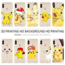 Fashion Soft TPU Case Cover For Coque Xiaomi Redmi 4X 4A 6A 7a Y3 K20 5 Plus Note 8 7 6 5 Pro Pikachues(China)