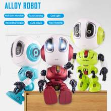 2020 Nieuwe Hoofd Touch Sensor Opname Praten Legering Robot Voice Dialoog Leuke Early Education Mini Intelligente Robots Doll Speelgoed(China)