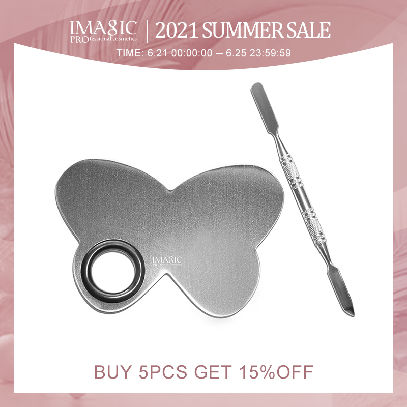 Professional Stainless Steel Butterfly Shape  Makeup Nail Eye Shadow Pigments Cosmetics  Palette Cosmetic Tools