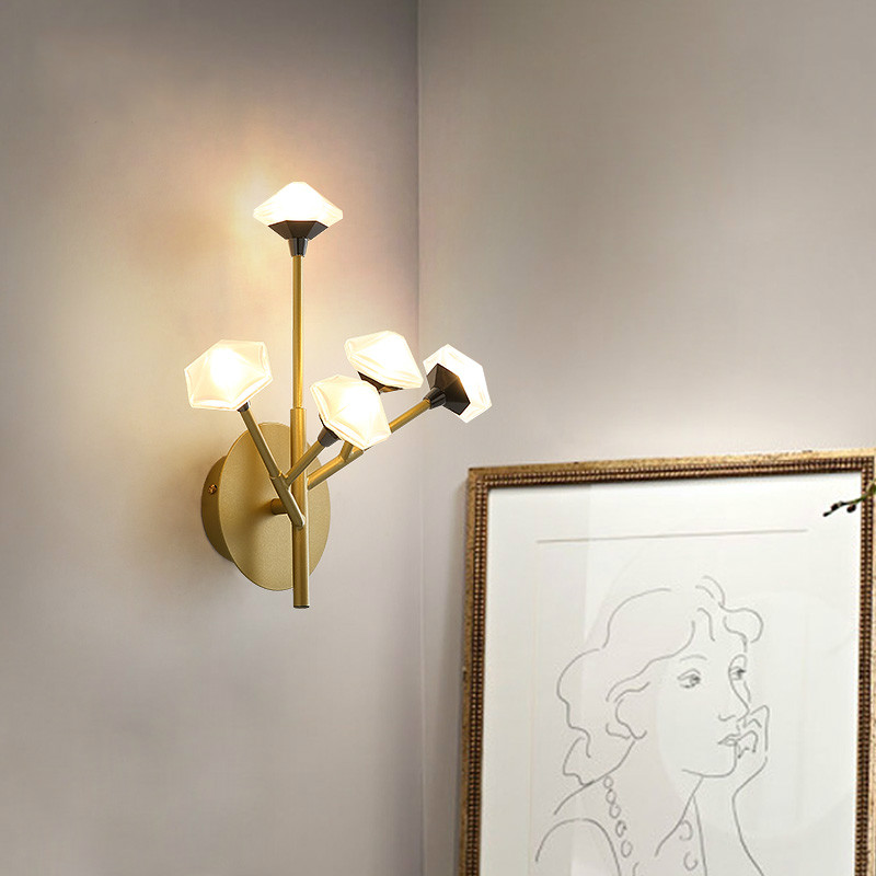 Nordic Wall Lamp Fixture Simple Bedroom Bedside Staircase Hallway Creative Wall Sconce Luxury Background Bathroom Led Wall Light