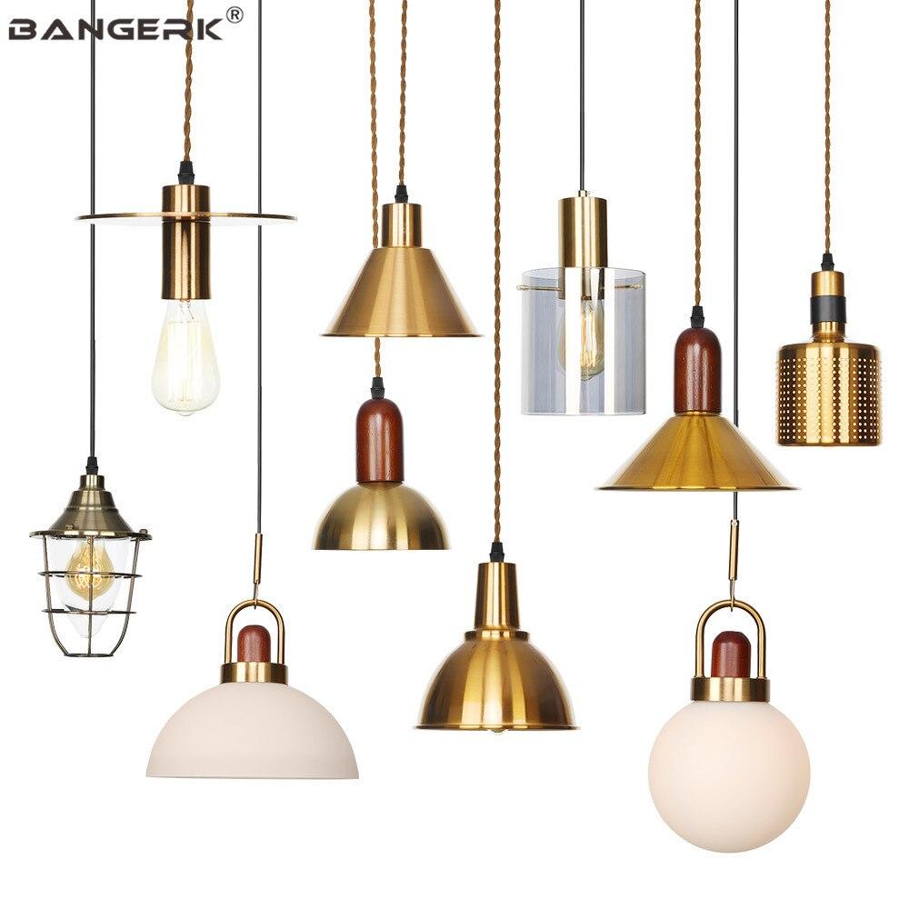Nordic Design Pendant Lamp Loft Decor Modern LED Hanging Light Iron Glass Fixtures Dining Room Bedroom Home Indoor Lighting