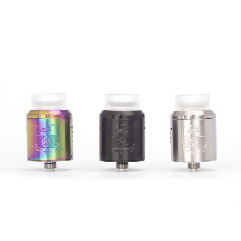 Coil Father King Drop RDA Atomizer 24mm Diameter With 810 Drip Tips For Vape Box Mod Electronic Cigarette Tank