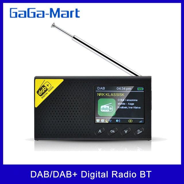 2,4 In LCD Display Bildschirm DAB/DAB + Digital Radio Broadcast FM Empfänger Lautsprecher BT Wecker Digital Audio rundfunk Musik