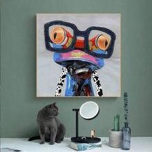 Настенная картина в виде лягушки со стеклом животное искусство