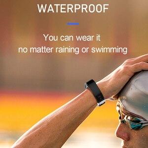 Image 5 - חכם כושר צמיד לחץ דם מדידה כושר גשש עמיד למים חכם להקת שעון קצב לב Tracker עבור נשים גברים