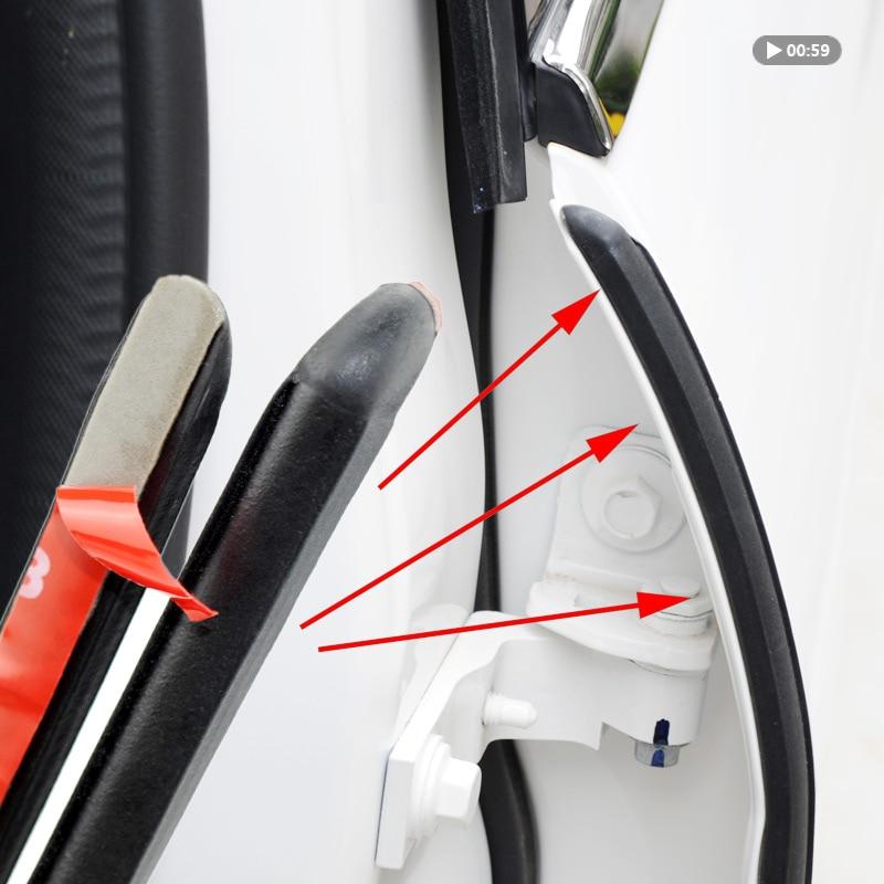 уплотнитель двери авто звукоизоляция резиновые уплотнительные прокладки для B столб Шум ветрозащитный двери уплотнитель уплотнитель для а...