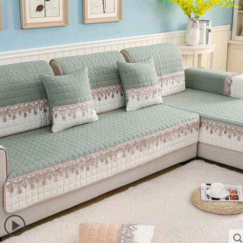 Non-slip Sofa Cover Protector Chaise Four Season Universal Stretch Corner Sofa Cushion Sofa Towel 1/2/3/4-seater For Living Room