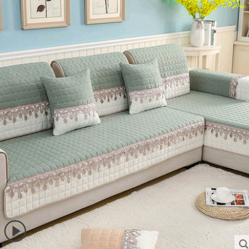 Non-slip <font><b>Sofa</b></font> Cover Protector Chaise Four Season Universal Stretch corner <font><b>Sofa</b></font> Cushion <font><b>Sofa</b></font> Towel 1/2/3/4-seater For Living Room image