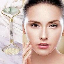 HOT 14c*5.5cm Health Care Tool Facial Massage Roller Pratical Jade Anti Wrinkle