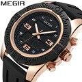 Мужские часы MEGIR с хронографом и календарем  водонепроницаемые спортивные часы с двойным дисплеем  Роскошные мужские часы с силиконовым рем...