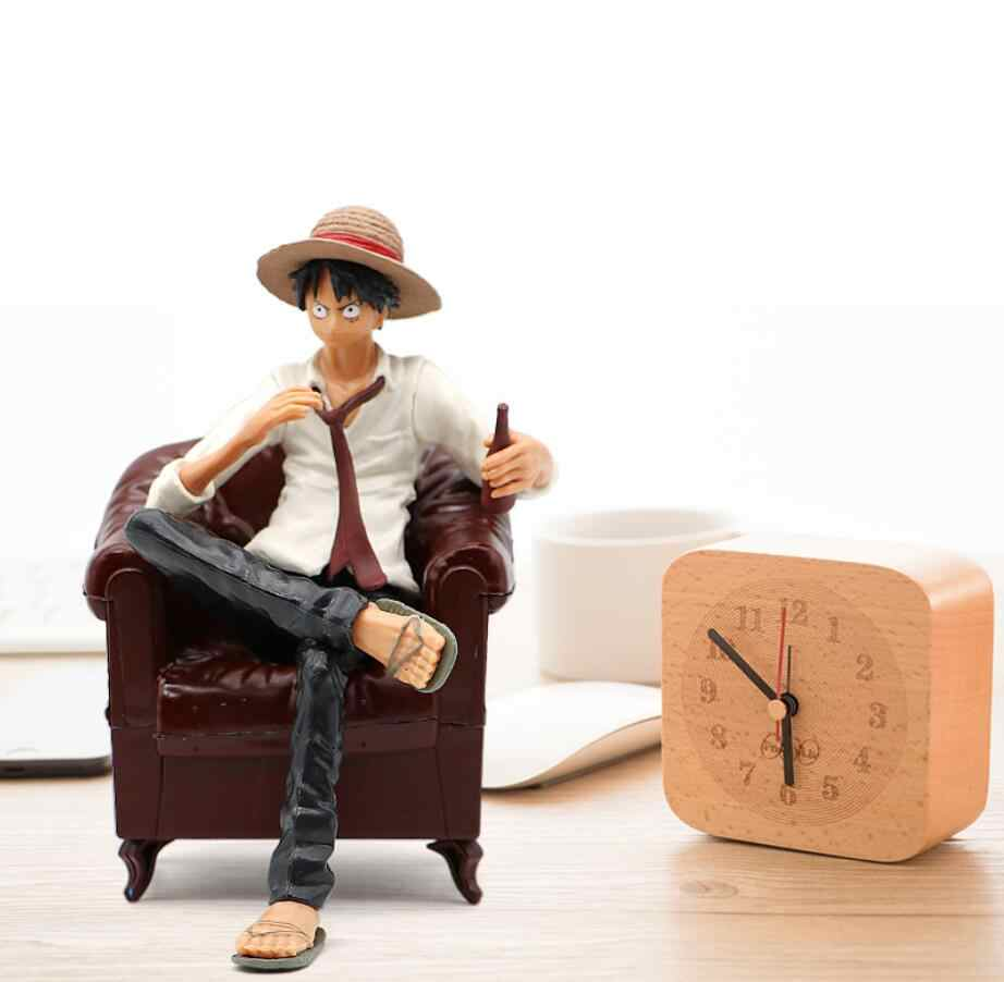 Lucu Action Figure One Piece Monkey D. Luffy Sabo Ace One Piece Monkey D. Luffy Gear One Piece Patung dengan Sofa 13 Cm untuk mobil Dekorasi Rumah Mainan