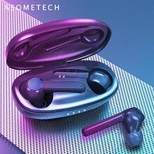 5.0 Bluetooth Earphone TWS Fingerprint Touch Wireless Earphones HD Stereo Earphone Sport Ea