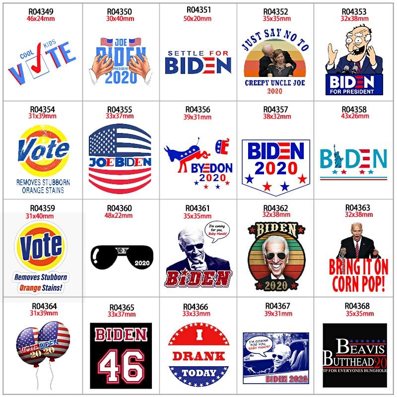 Trump 2020 Impresso Planar Resinas Presidente Eleição Americana DOS EUA para DIY Arco de Cabelo Decorações 30 pçs/lote R04349 R0435 R0436