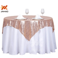 100% Polyester Multi Color Sequin Fabric Fashionable Party Glitter Sequin Round Table Cloth Wedding