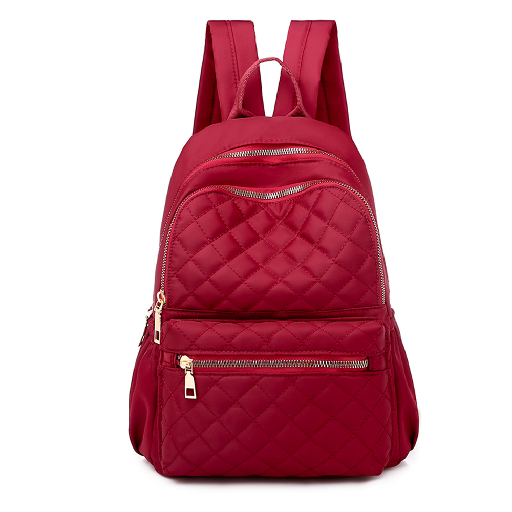 Puimentiua Women Large Capacity Simple Stylish Waterproof Student Bag Backpack Anti Theft Women High Quality Backpack For Travel