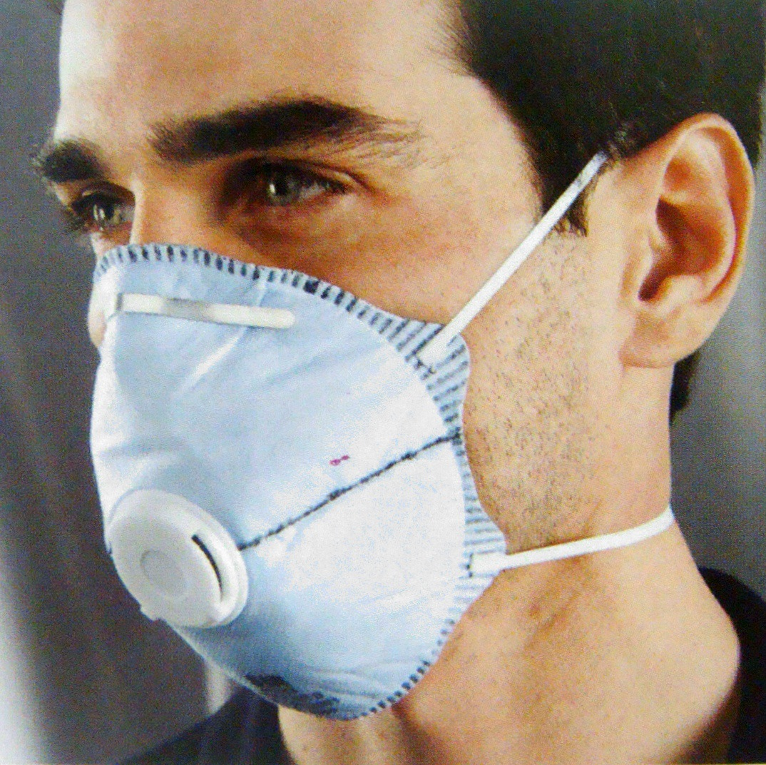 [Sir Safe Protection] Disposable Upcast Face Mask 45163 Ffp2 Face Mask With Valve Headband,