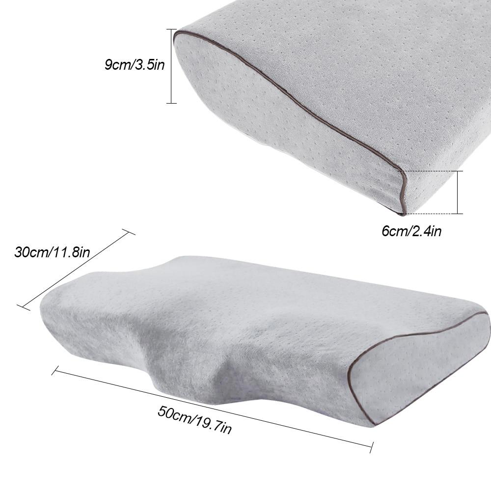 Image 5 - 1/2PCS Memory Foam Pillow Orthopedic Sleep Massager Pillow Neckrest Bedding Pillows For Sleeping Fiber Slow Rebound Cervical-in Decorative Pillows from Home & Garden
