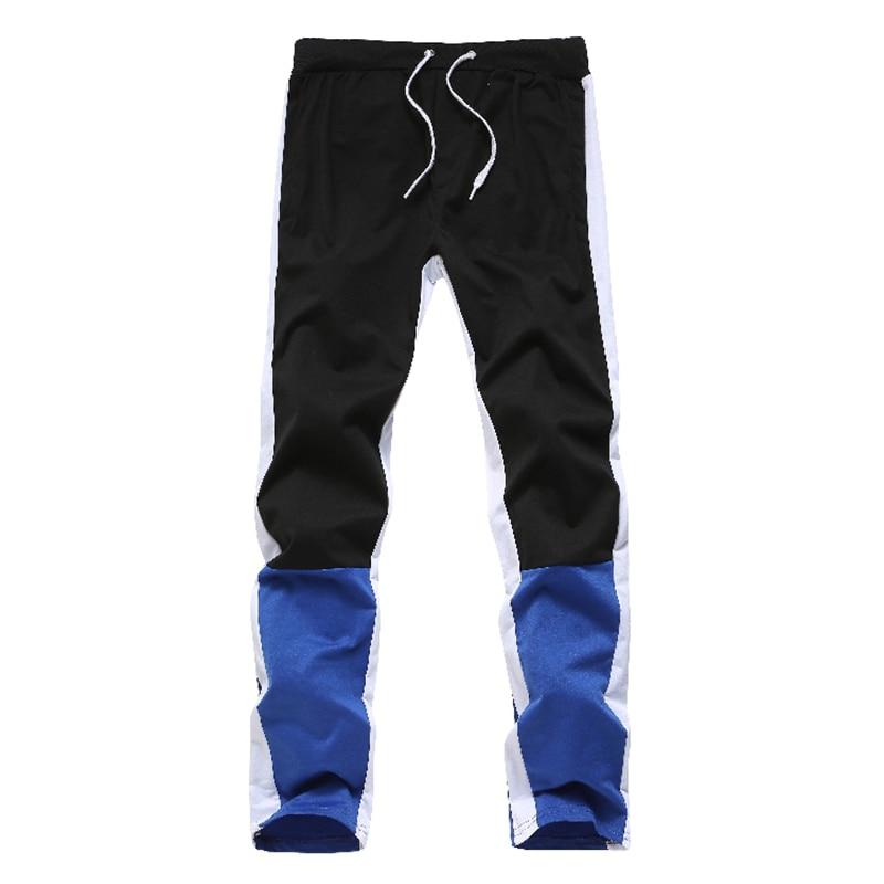 Aolamegs Men Pants Hip Hop Hit Color Sports Pants Male Elastic Waist Trousers Simple Casual Drawstring All-match Sweatpants