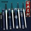 Chinesische alte schwert yue wang jian ruyi jian modell uncut legierung waffe schlüssel kette anhänger geschenk schlüssel kette-in Haken & Leisten aus Heim und Garten bei