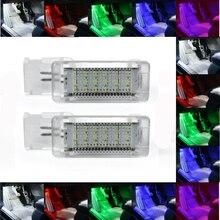 2 sztuk Canbus bez błędu LED światła na nogi Boot schowek na rękawiczki lampa dla VW Golf 5 6 7 Jetta SCIROCCO Passat Polo cc 6R 6C czerwony biały niebieski